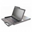 18.5-inch LCD Console Tray with analog 8-port KVM, integrated keyboard, touch pad