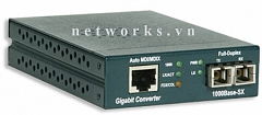 AMP Gigabit Ethernet Media Converter, 1000BASE-LX, SC, SM