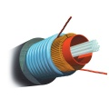 AMP Fiber Optic Cable, Outside Plant, 6-Fiber, OM3, Armored Jacket