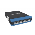 G2 Singlemode MPO-12 Distribution Module, 1x12F MPO pinned to 12F LC Blue with internal shutters, Method A Pair Straight