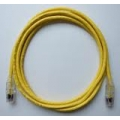 AMP Category 5e Cable Assembly, Unshielded, RJ45-RJ45, SL, 7Ft, Yellow