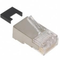 AMP Category 3 Modular Plug, Shielded, RJ45, 26-24AWG, Solid