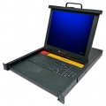 "Avocent LCD 1U 17"" LCD console with integrated 16-port KVM switch, USB keyboard, touchpad"